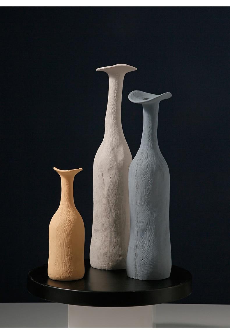 Vases Modern Ceramic Vase Moran-dis Multi-colored Minimalist Vase Tabletop Decorations Living Room  Nordic Sculpture Art