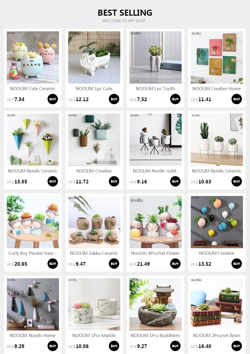 NOOLIM Creative Ceramic Wall Vase Home Hanging Flower Basket Decoration Adornment Solid Color Flower Holder Vases Home Decor