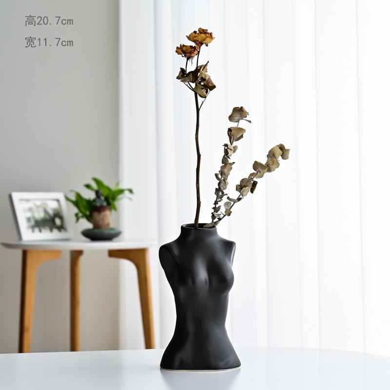 Creative Decoration Human Body Vase Ceramic Vase Nordic Home Decoration Body Art Sculpture Flower Arrangement Gift