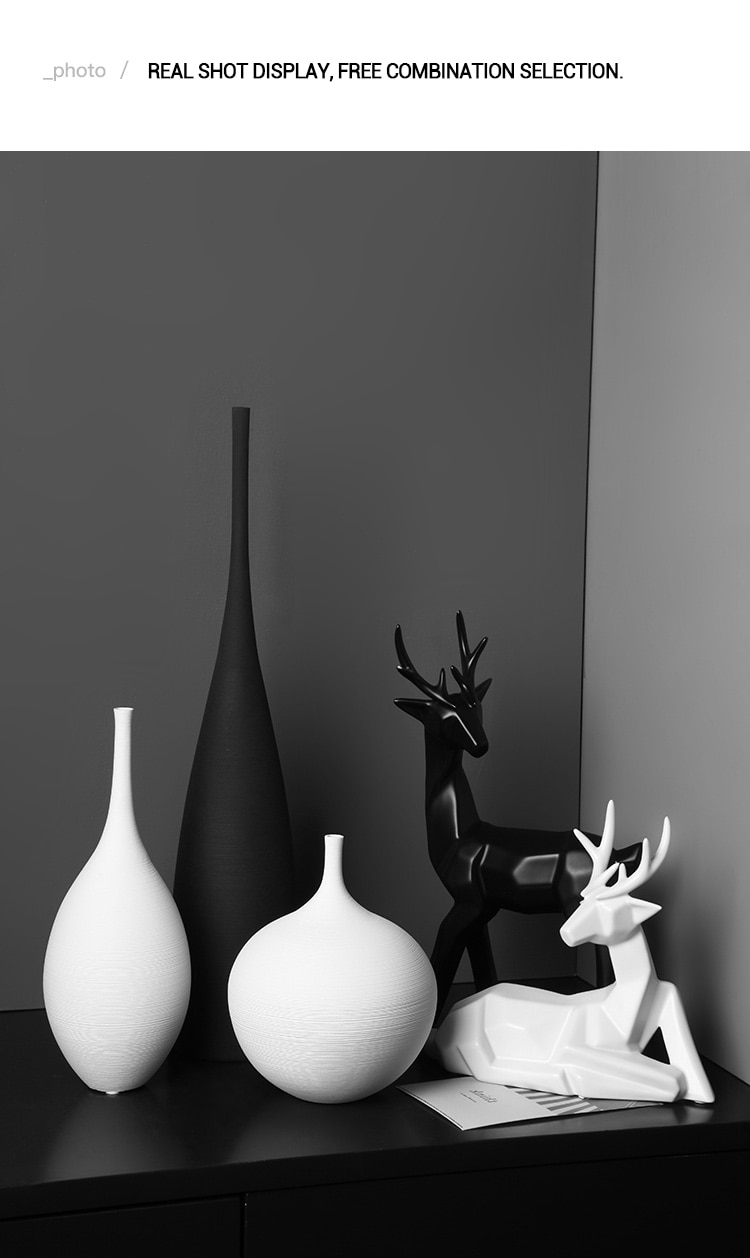 Nordic Ceramic Vase Decoration Home Living Room Dried Flowers Floral Arrangement TV Cabinet Modern Creative Dining Table