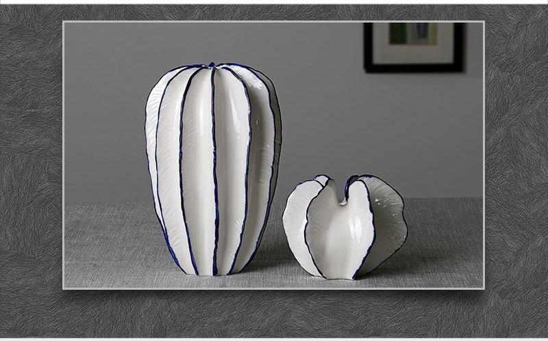 Nordic Carambola Ceramic Flower Vase Home Decoration Modern Art Flower Vase Plant Holder Desk Hydroponics Device Room Decor