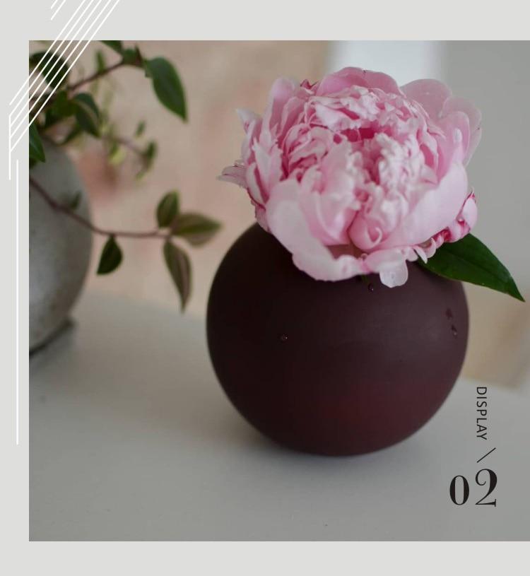 Nordic Morandi Vase Ins Light Luxury Round Ceramic Living Room Table Decoration Ornaments Small Flower Ornament Living Room