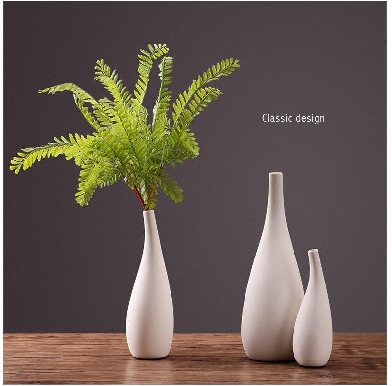 Europe Style Home Decoration Vase Ceramic Tabletop Flower Vases For Decoration Living Room Flower Pot Water Plant Vase