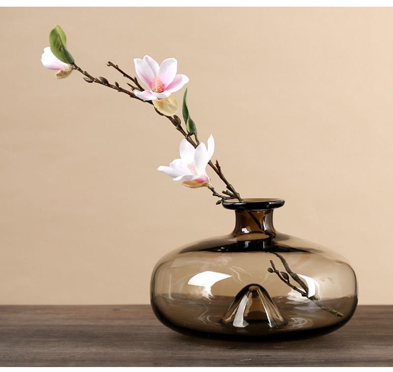 Hot Sale Nordic Style Desktop Decoration Glass Floor Vases Modern Home Decor Tabletop Vase Household Furnishing Articles