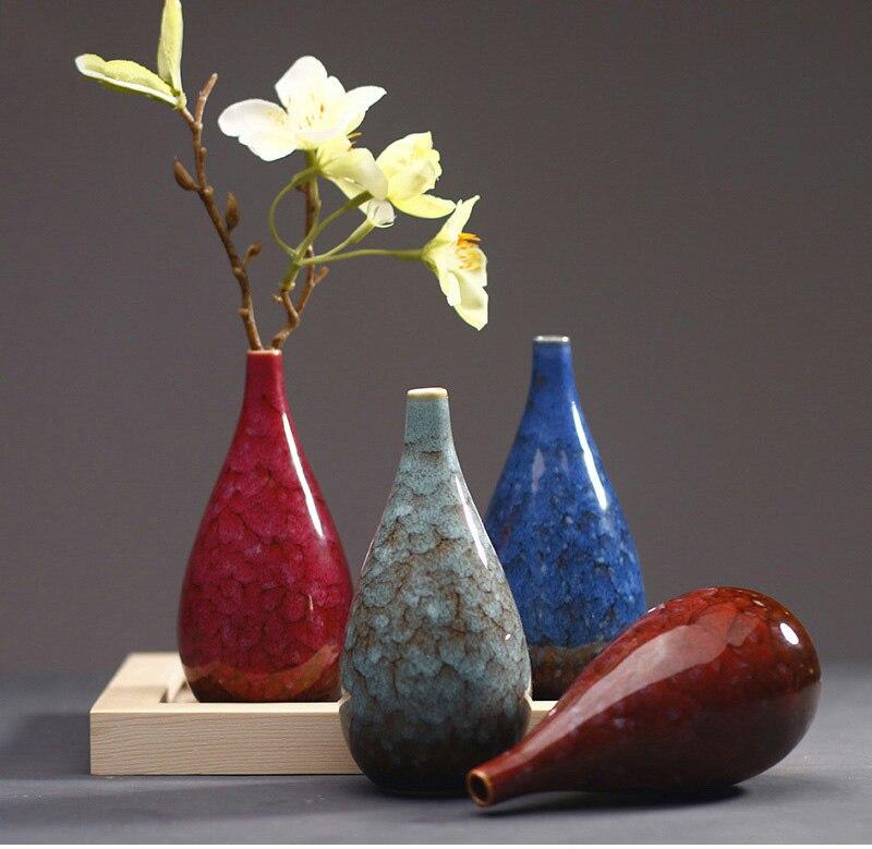 European Crack Ceramic Flower Vase Creative Ceramic Hydroponic Device Contracted Desktop Ornament Home Decoration Accessories