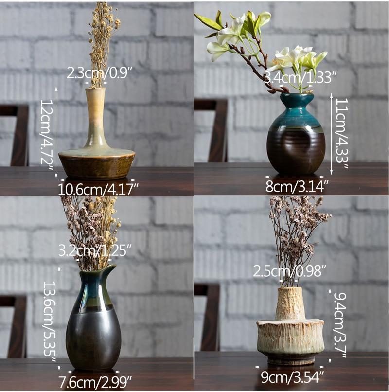 Vintage Fambe Ceramic Flower Vase Creative Ceramic Hydroponic Device Contracted Desktop Ornament Home Decoration Accessories