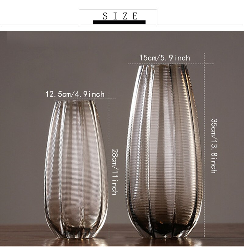Simplicity Vintage Glass Vase Home Decoration Flower Vase Tabletop Ornament Nordic Household Furnishing Decorations
