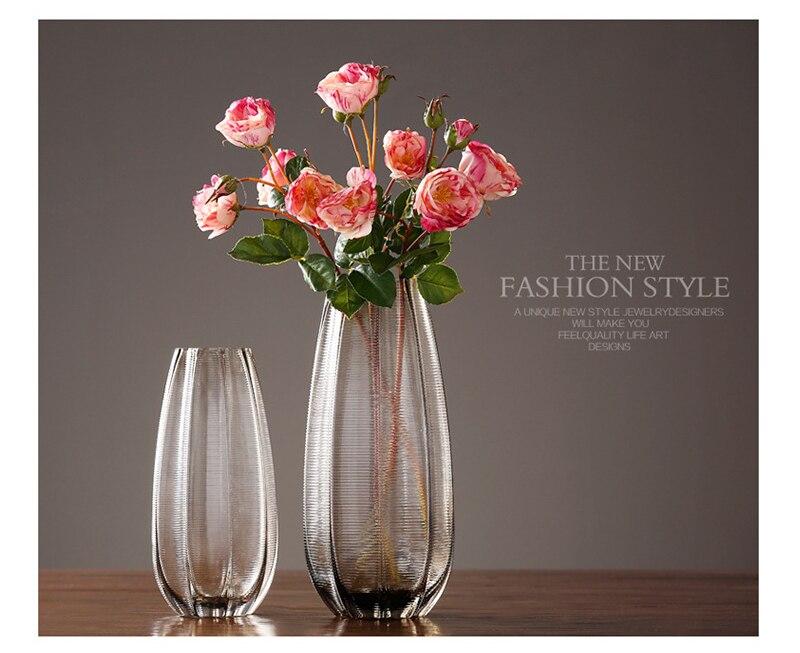 Simplicity Vintage Glass Vase Home Decoration Flower Vase Tabletop Ornament Nordic Household Furnishing Decorations
