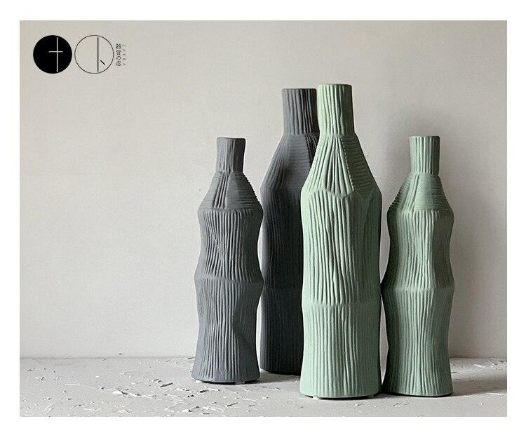 Creative Ceramic vase Handmade ornaments Living room decoration nordic decoration home flower vase home decoration