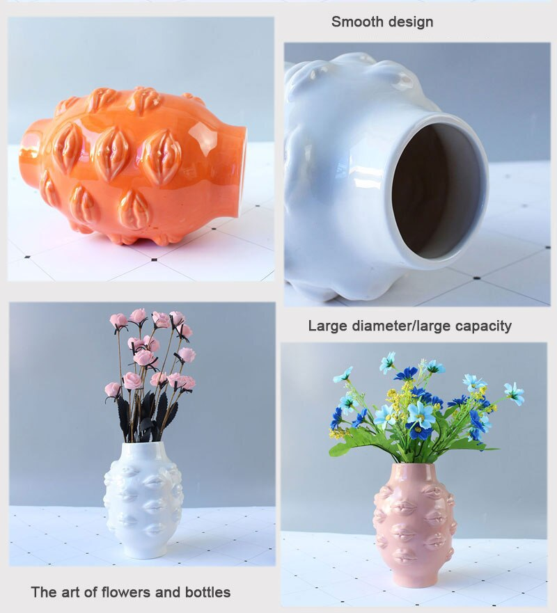 European-style body art decorative vase creative desktop dried flowers floral woman body art vase decoration home decoration