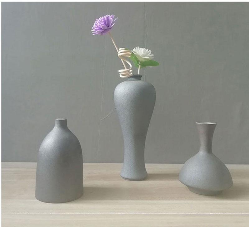 Nordic ins simple retro ceramic vase wedding home decoration desktop dried flower flower arrangement container decoration