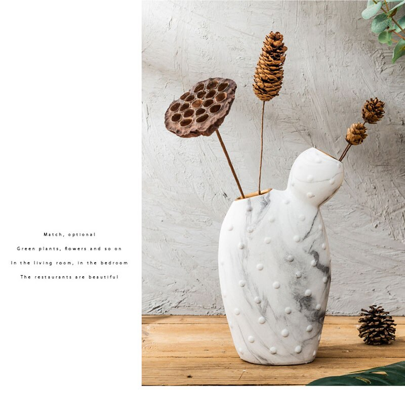 Nordic ins ceramic vase handicraft modern living room wine cabinet desktop dried flower flower arrangement home decoration