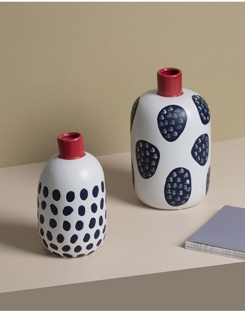 Chinese creative ceramic vase decoration retro dried flower vase living room living room desktop decoration home decoration