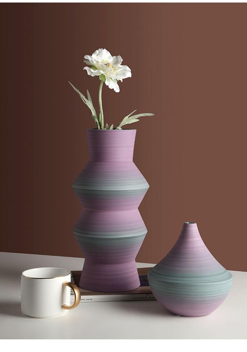 Nordic ins geometric ceramic vase decoration creative living room flower arrangement vase home decoration desktop crafts gifts