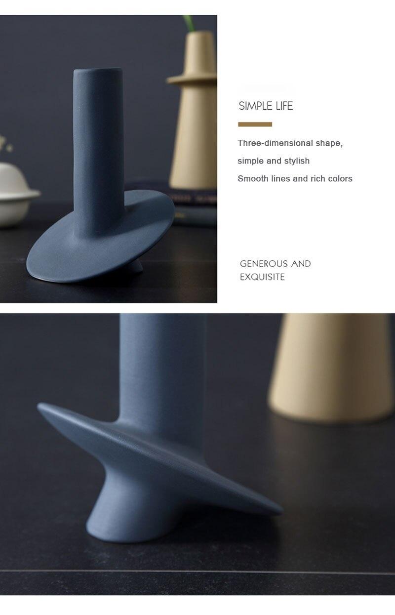 Nordic geometric irregular Morandi vase ceramic decoration creative frosted living room dried flower vase simple decoration
