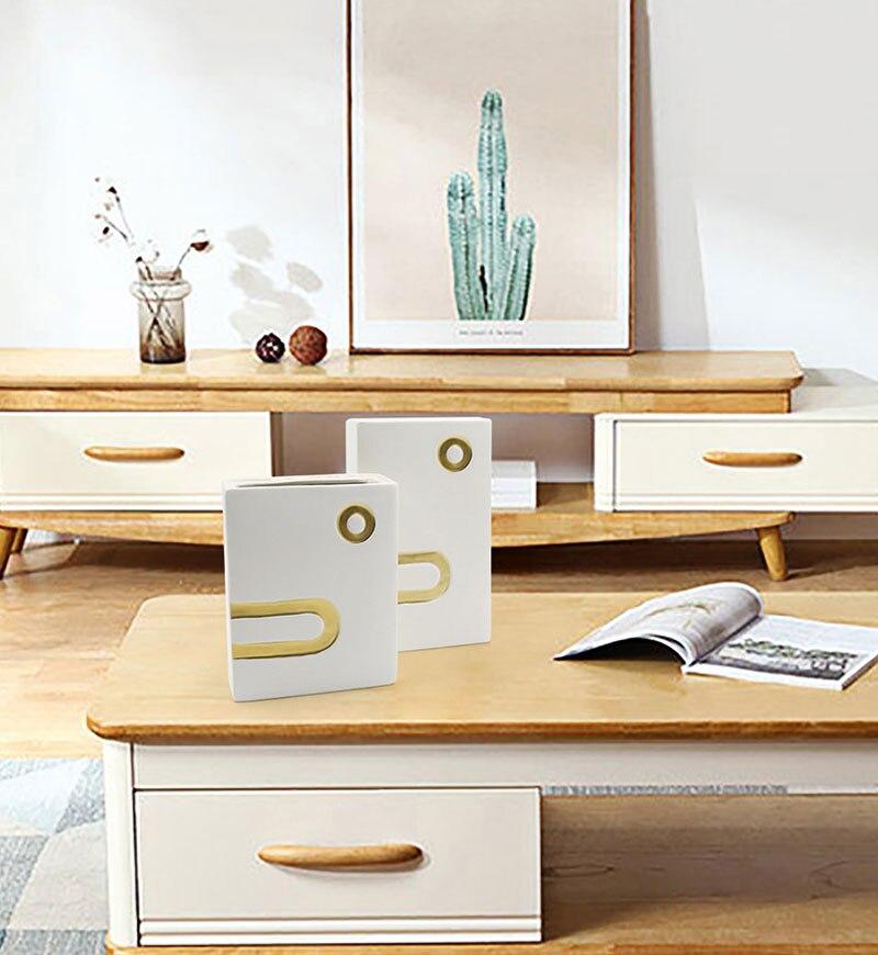 Nordic ins creative ceramic vase living room bedroom dried flower flower arrangement home decoration office desk crafts gifts