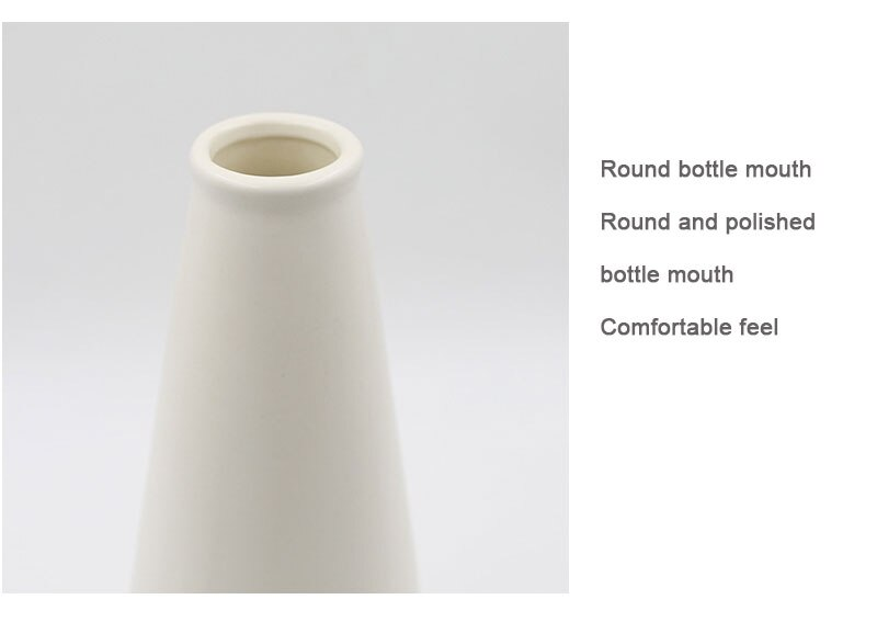 Nordic matte colorful glaze ceramic vase modern black and white art decoration creative geometric living room home decoration