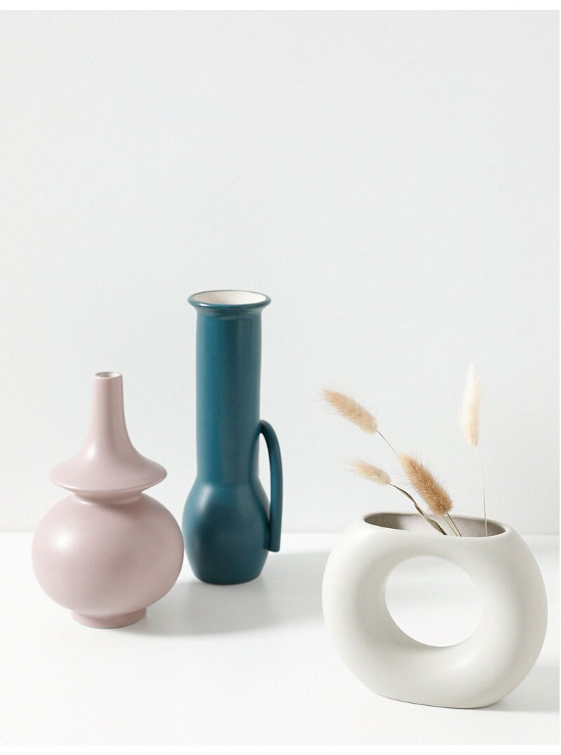 Nordic Ins Small Vase Slicing Pieces Dry Flower Ornaments Home Tabletop Wine Cabinet Xuan Off Turkish Handmade Vase Wall Vase
