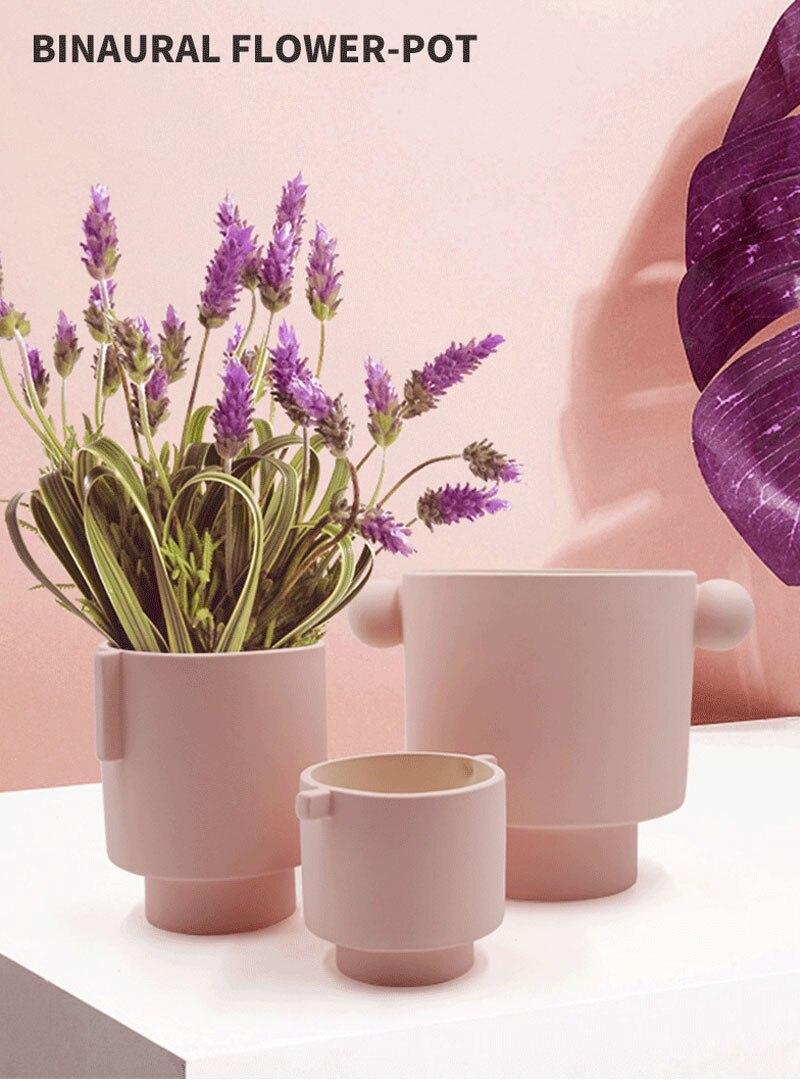Nordic ins handmade frosted flower arrangement floral container artist home decoration succulent planting flower pot bonsai