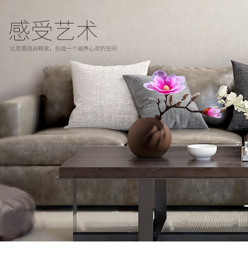 Creative Ceramic vase Round artwork Home Decoration Floral bottle Flower arrangement Living room table Ceramic crafts