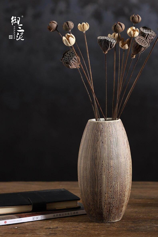 Creative Chinese Ceramic vase Desktop flower arrangement decoration living room dining table Simple jarrones moderno