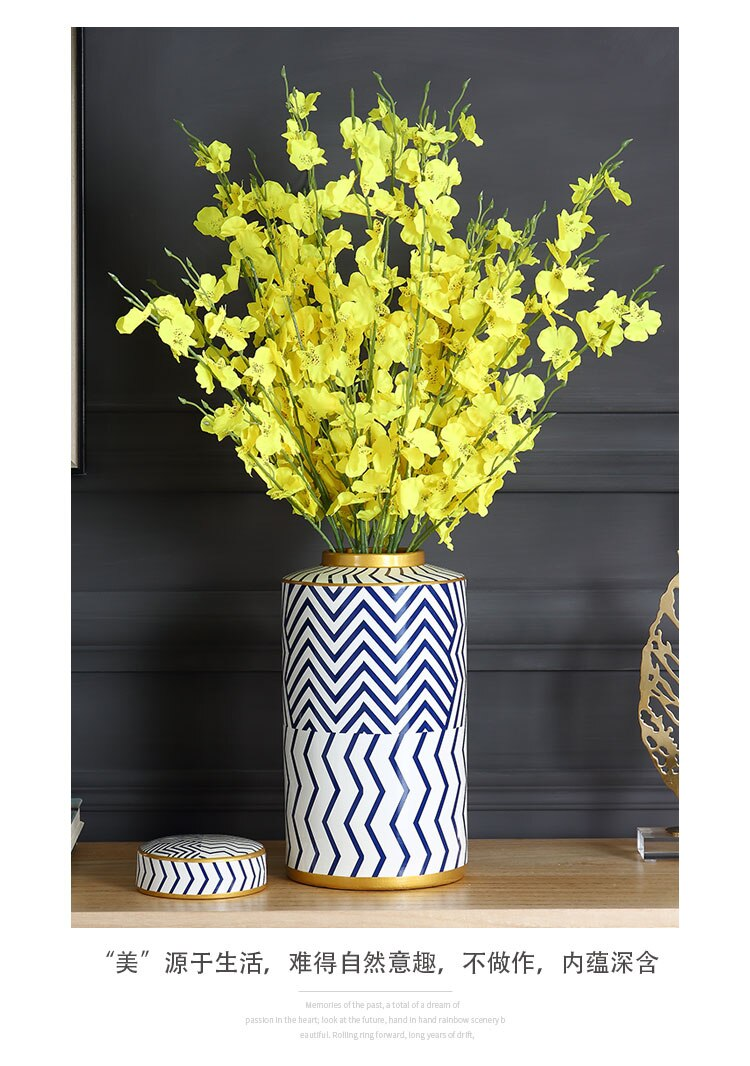 Nordic Creative ceramics vase geometric Gold Flower arrangement accessories Decorative ornaments wedding vase flower vases