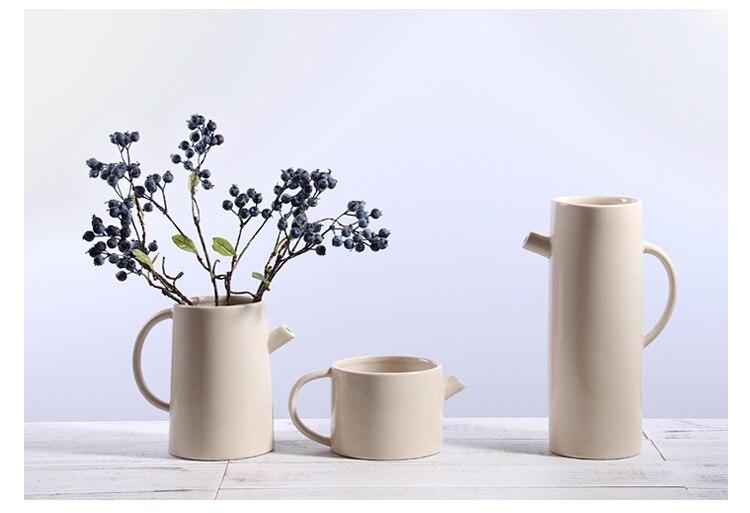 Nordic style Creative Ceramic vase kettle modern Flower vase Home room decoration Hydroponics Flower arrangement accessories
