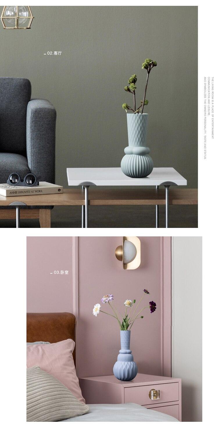 Nordic Ceramic vase geometric design Modern home living room decoration accessories dining table Flower arrangement vase