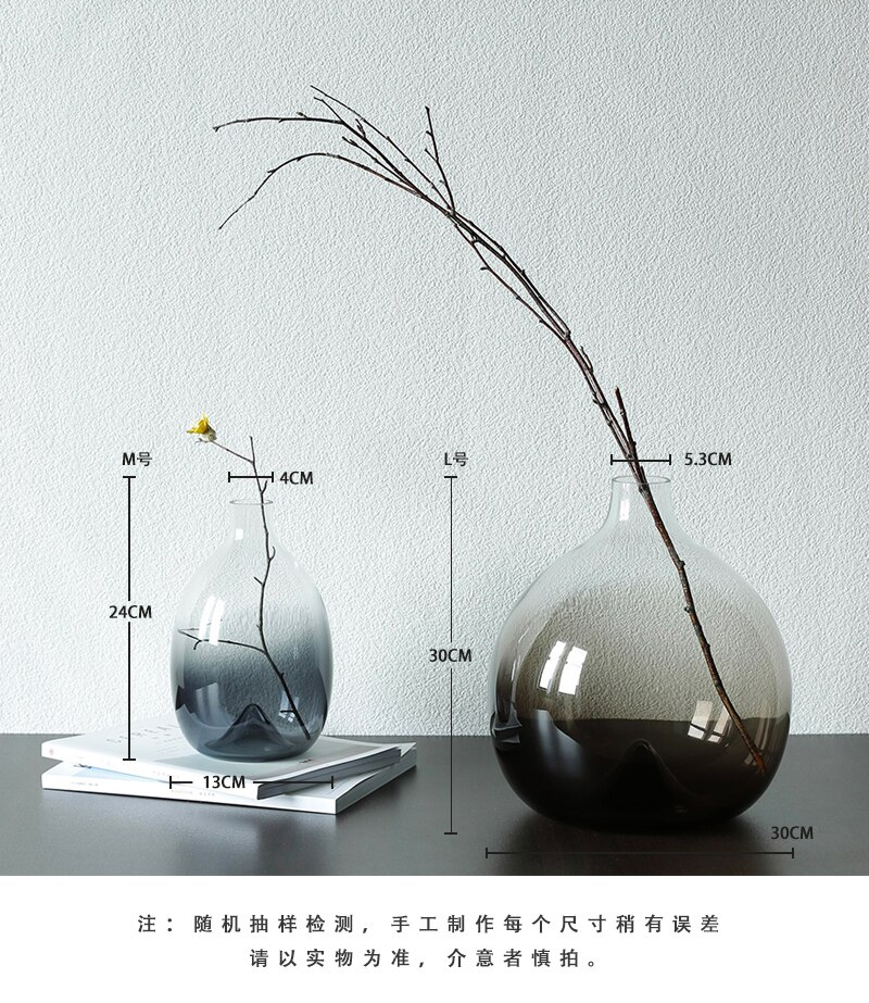 Nordic style glass vase Creative Gradient Table decoration Transparent flower arrangement accessories modern Home Decorations