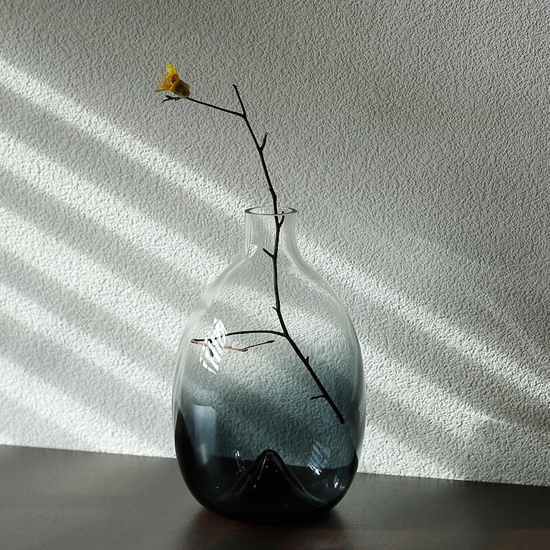 Nordic style glass vase Creative Gradient Table decoration Transparent flower arrangement accessories modern Home Decorations