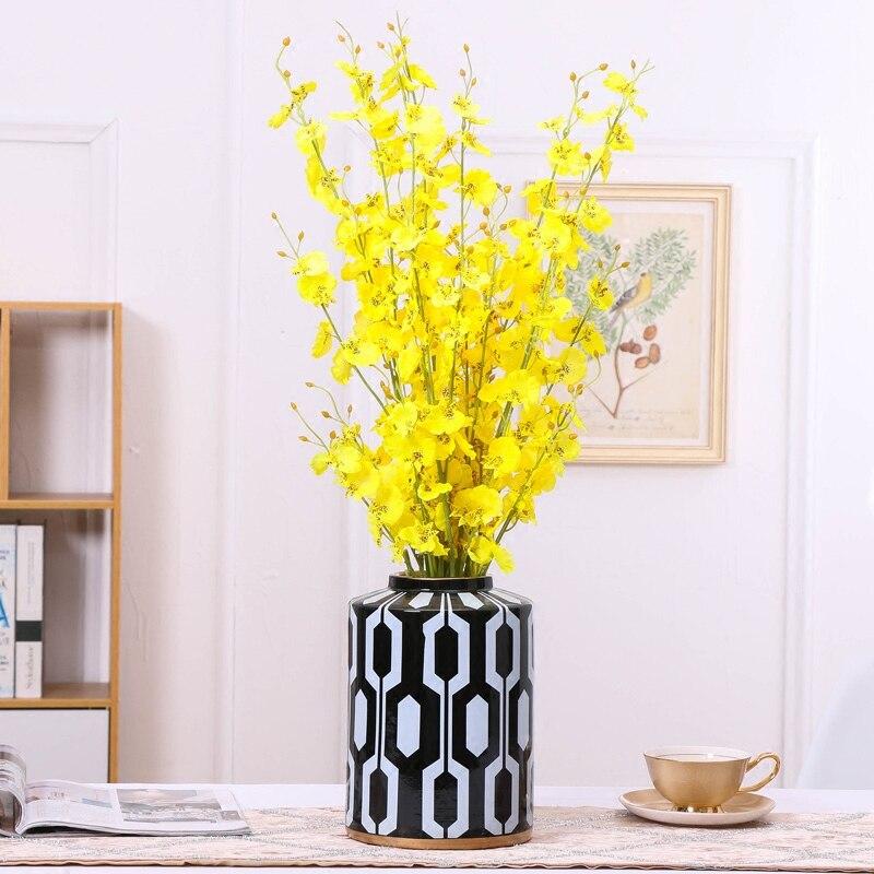 Geometry Ceramic Vase Abstract with Cover Storage Jar Retro Modern Home Storage Organization Decoration Flower Vases Wedding