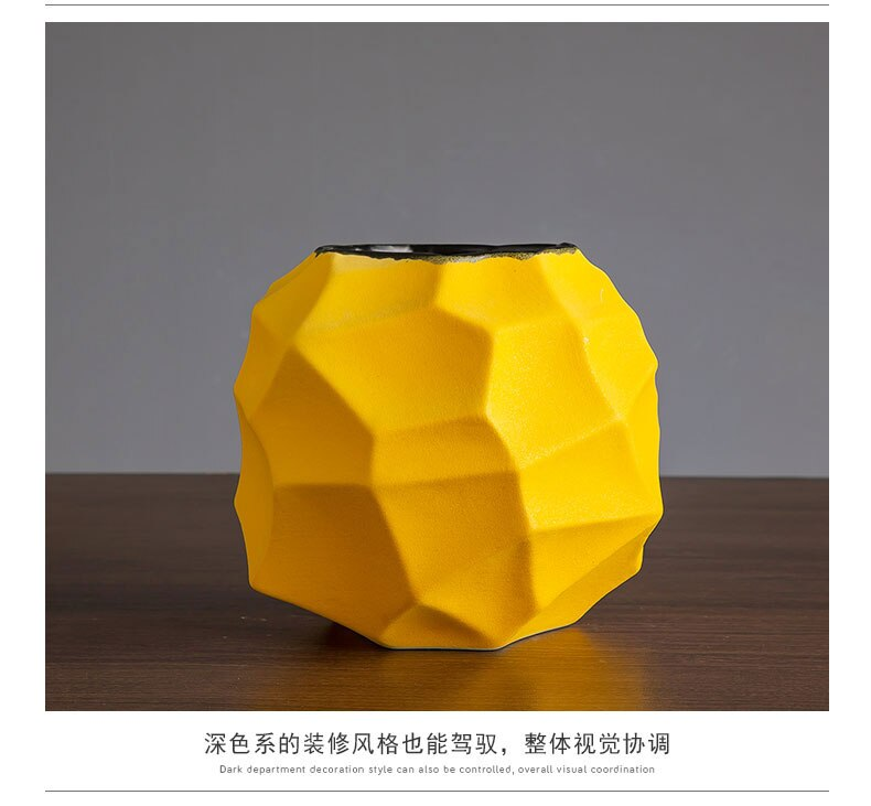 Creativity Ceramics Vase Geometric Abstraction Small Flower Vase Porcelain Modern Home Living Room Decoration Desktop Furnishing