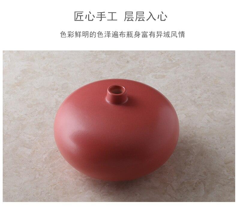 Creative Ceramics Vase Color Flower Arrangement Hydroponics Accessories Modern Home Living Room Decoration Decoration Ornaments