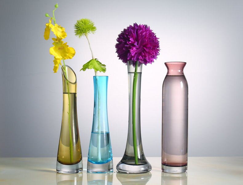Nordic Creative glass Transparent color vase Flower arrangement Hydroponics Desktop decoration accessories wedding Modern home