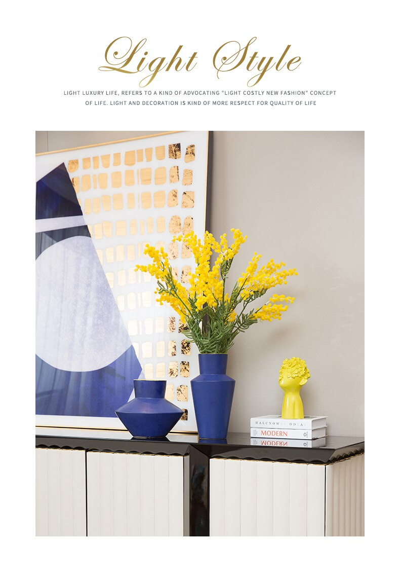 Nordic modern Creative ceramics vase Decorative ornaments Flower arrangement accessories Hydroponics Desktop decorations