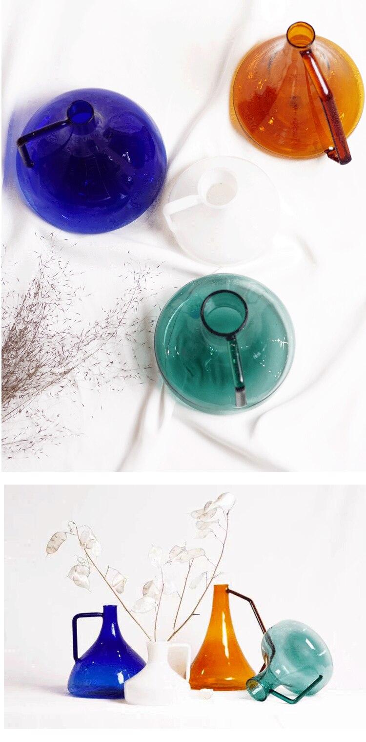 Nordic style Simple glass vase Transparent Flower arrangement Living room creative decoration Test tube vase accessories