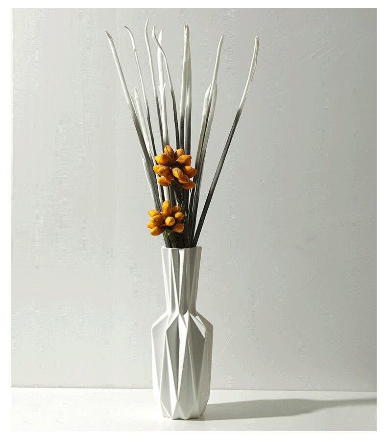 Creative Nordic style modern Ceramic vase Home Decoration Flower arrangement geometric Origami vase vase decoration home