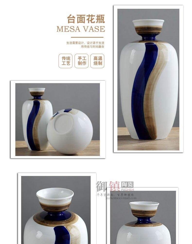 Creative modern Ceramic vase abstract Retro Gold Modern home desktop Flower arrangement decoration wedding flower vases
