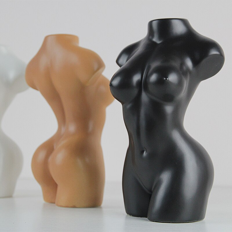 Body Art Naked Girl Creativity Ceramic Vase Flower Arrangement Nude Vase Modern Home Decoration Accessories Decor Vases