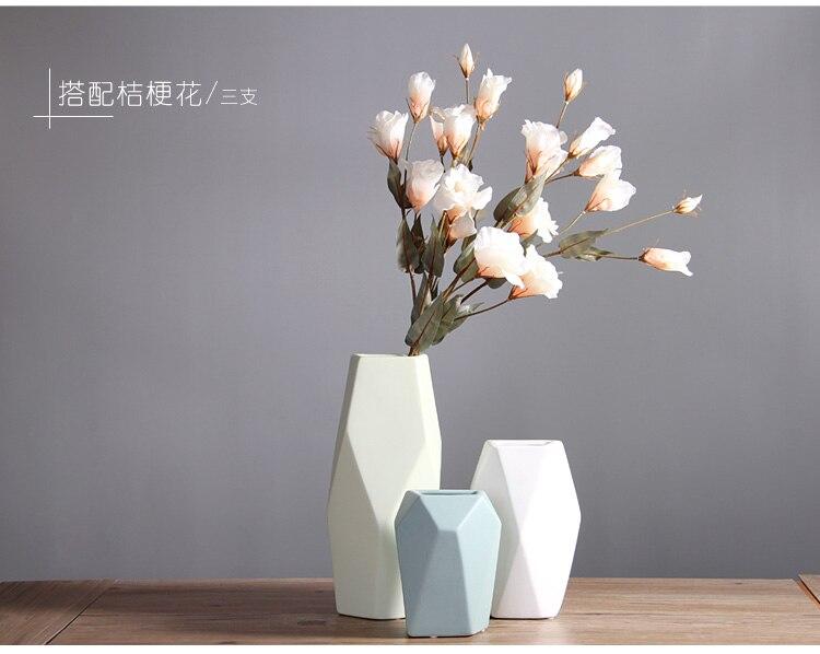 Simple Ceramic vase geometric Decoration living room Flower arrangement decoration bouquet Living room furnishings