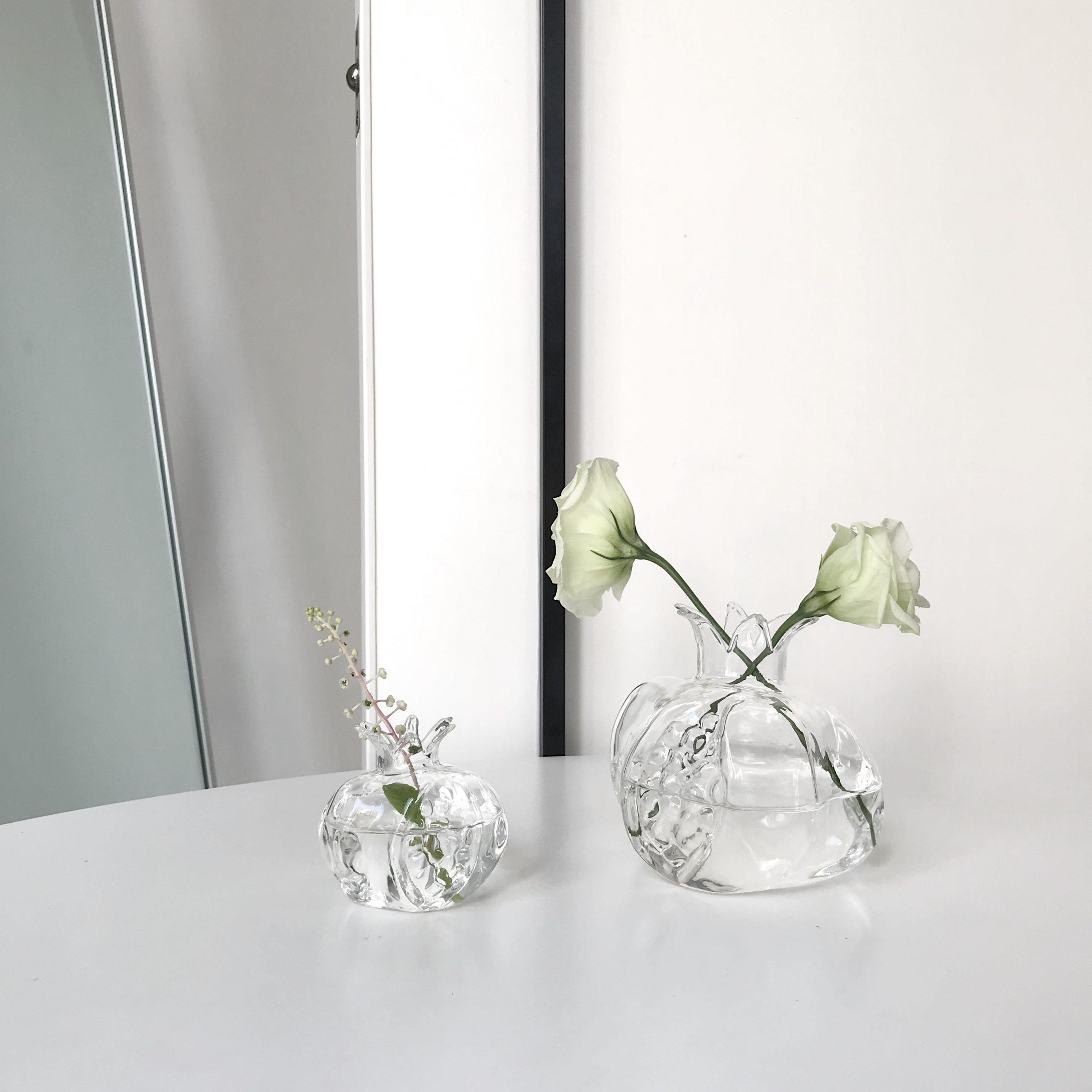 Nordic Creative glass vase Transparent pomegranate Small vase Mini Desktop decoration Flower arrangement Hydroponics