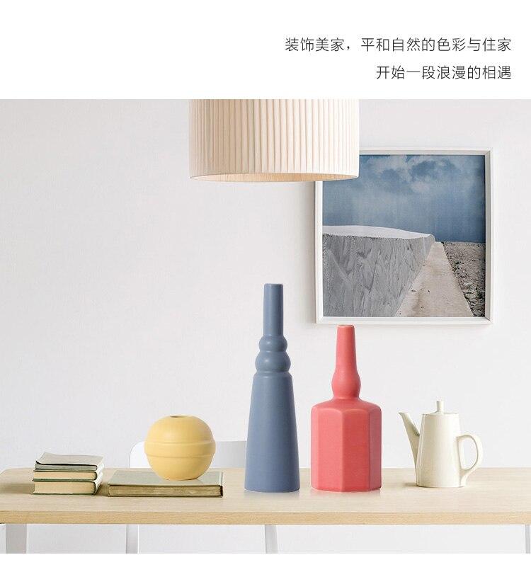 Creative Nordic style Ceramic vase Home Decorations modern abstract living room indoor Flower vase Flower arrangement