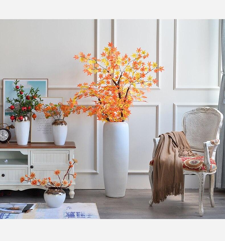 Creative Ceramic vase Retro Flower arrangement accessories Modern home Flower vase Gold Modern home living room decoration