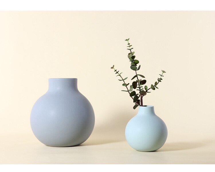 Nordic ceramics vase Home living room Flower arrangement Dried flowers Creative dining table modern Home Decoration Accessories