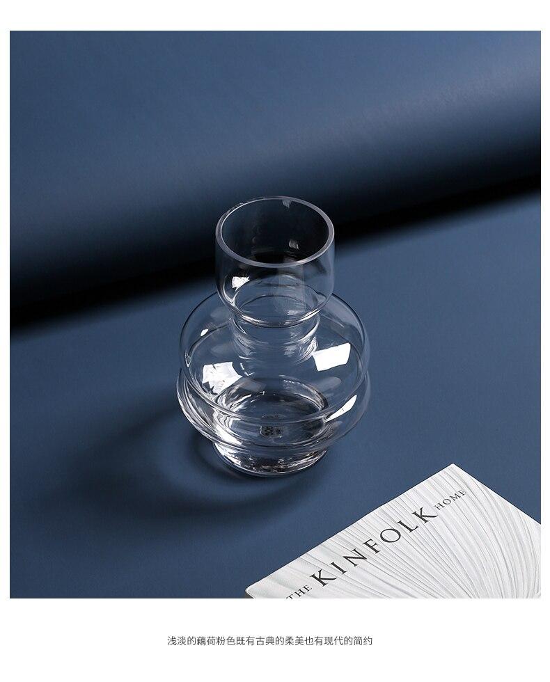 Creative Nordic glass vase Transparent Home living room Hydroponics Flower arrangement Decorative ornaments flowers vases