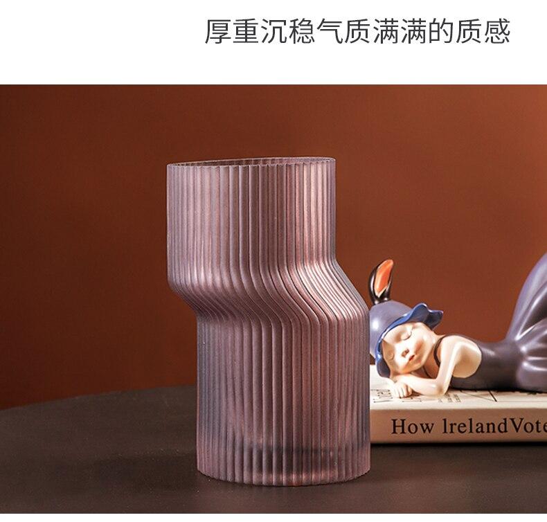 Creativity Geometry Glass Vase Abstract Irregular Transparent Flower Arrangement Modern Home Decoration Flowers Vases Wedding