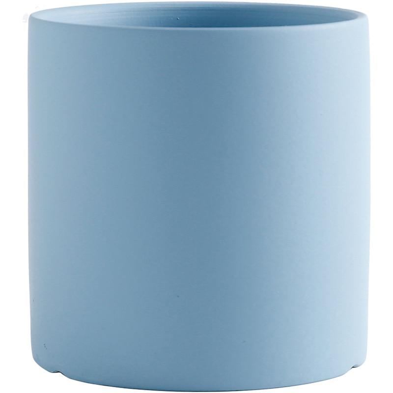 1pc New Style European Pure Color Flower Pot Home Decoration Succulent Ceramic Flower Pot