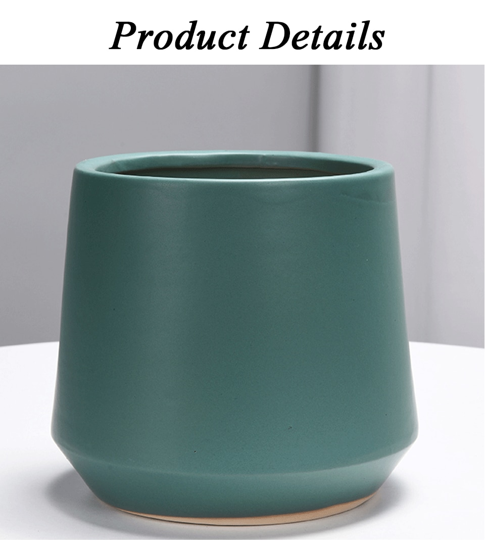 Simple Geometric Matte Flower Pot Multicolor Ceramic Flower Pot Green Dill Flower Pot Green Plant Shelf Home Decoration Supplies