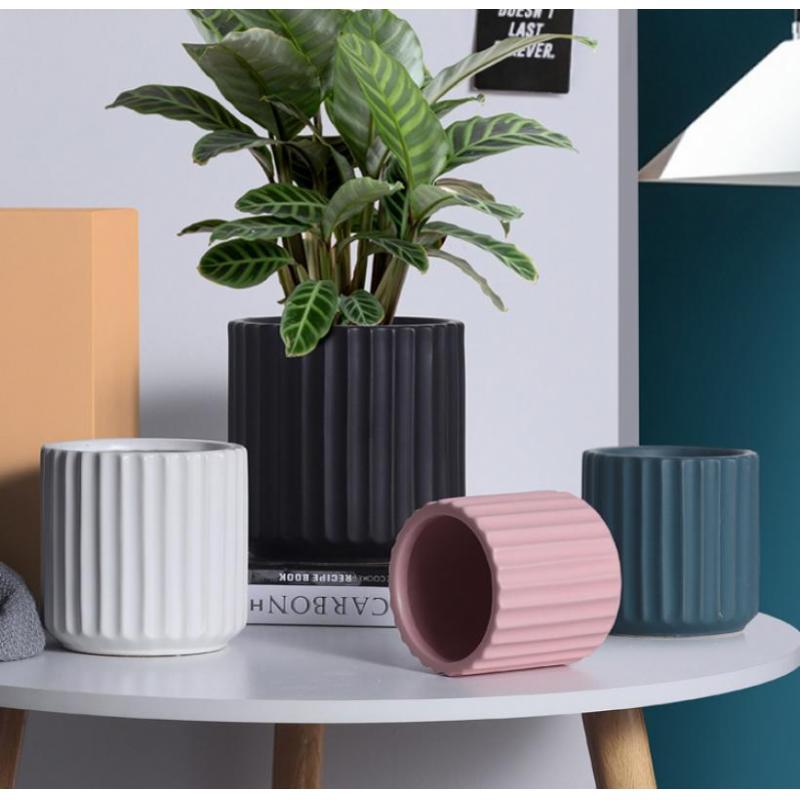 Ceramic Pots For Plants Container Modern Decorative Flower Pot Container Garden Planter Flower Pot Green Plant Pots Home Garden