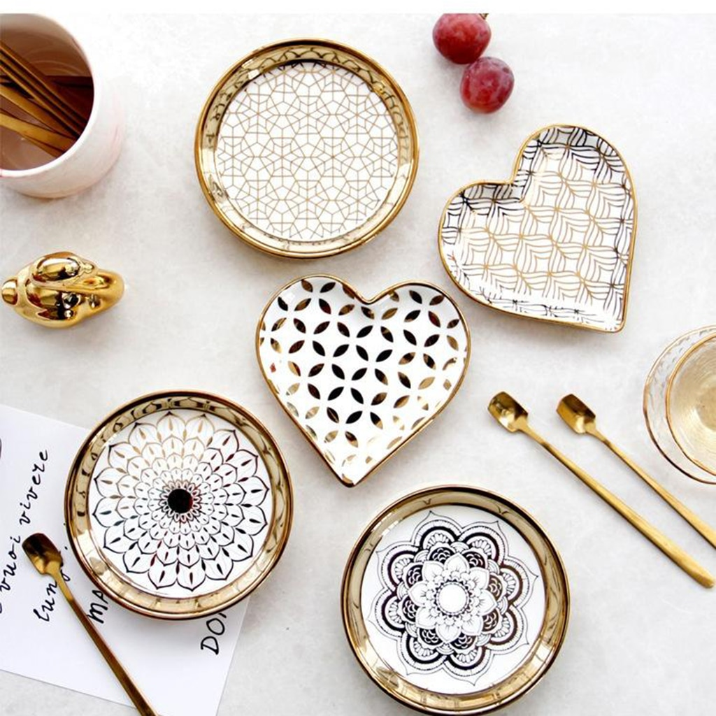 Small Ceramic Tableware Home Dining Dish Pasta Dishes Dessert Plates Photo Props